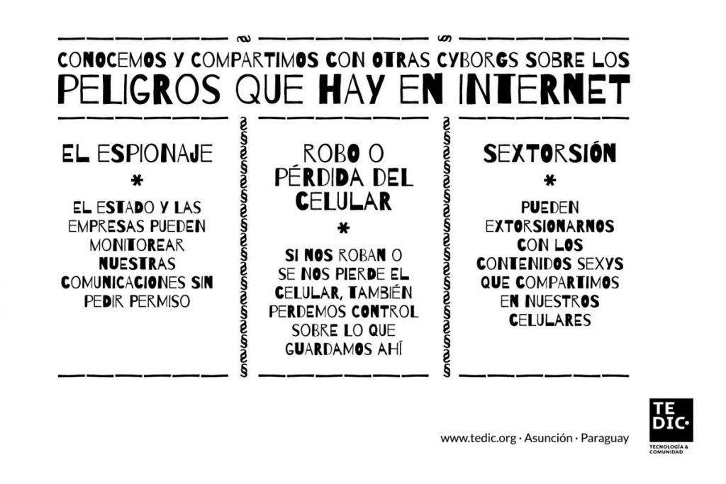 Tarjeta Peligros en Internet