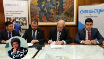 Firma de Convenio de Cooperación entre EssapSA y UNOPS para fortalecimiento de la empresa con la adquisición de vehículos