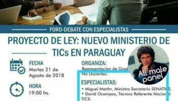 Ministerio de TICs en Paraguay_agosto2018
