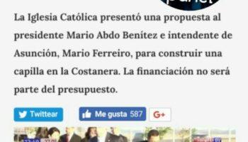 Proyectan construir una capilla en Costanera en honor a Chiquitunga